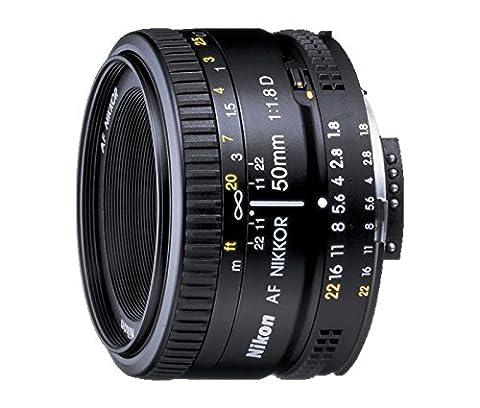 Nikon AF FX NIKKOR 50mm f/1.8D prime lens with manual aperture control (Nikon 85 Mm D)