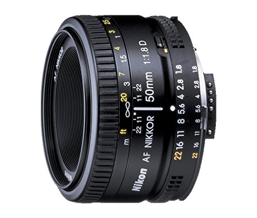 Nikon AF FX NIKKOR 50mm f/1.8D Lens for Nikon DSLR Cameras (Best Wide Angle Lens For D7000)