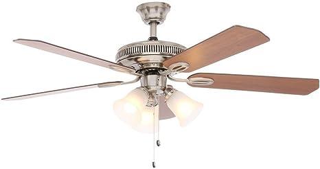 Ceiling Fan Blades Glendale 52 in Brushed Nickel Ceiling Fan ...