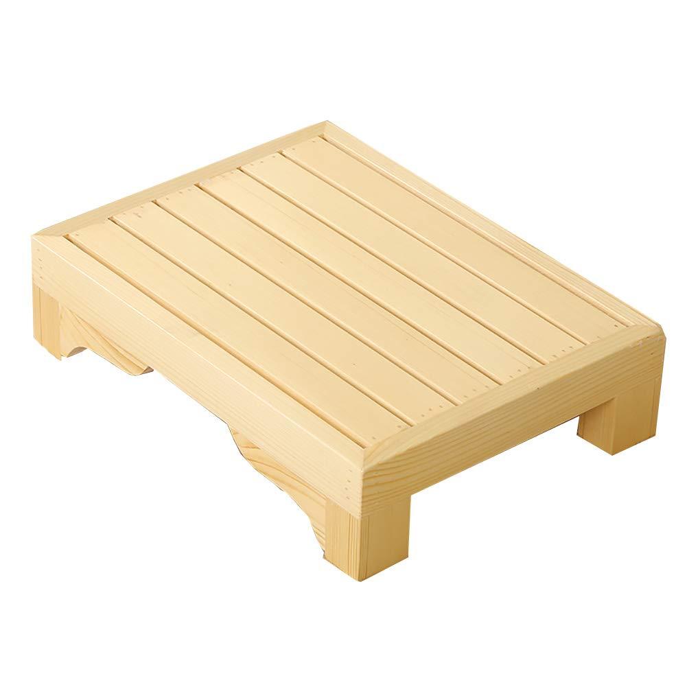 STEP STOOL YXX 木製小型ベンチ キッチン バスルーム 滑り止めフットスツール 幼児用トイレトレーニング B07M8RKV7L 40x30x10cm