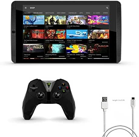 Nvidia Shield Tegra k-1 8.0 inch 16GB Tablet 3 items Bundle:Nvidia Shield Tegra K-1 Tablet,Newer Version Nvidia Shield Controller,Mytrix Standard USB-to-Micro USB Charging Cable