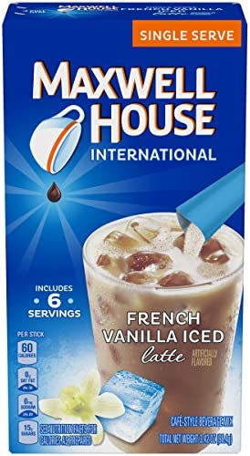 Photo of Maxwell House French Vanilla Iced Latte 6-0.57 oz Sticks