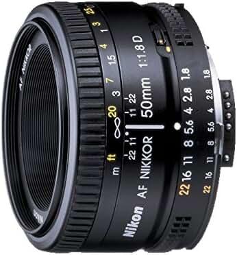 Nikon AF FX NIKKOR 50mm f/1.8D prime lens with manual aperture control