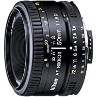 Nikon AF FX NIKKOR 50mm f/1.8D prime lens with manual aperture control