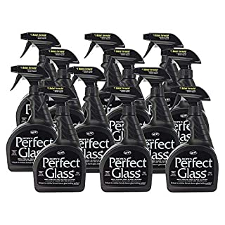 HOPE'S Perfect Glass Cleaning Spray Window, Stove Top, Mirror Cleaner Streak-Free, Less Wiping, No Residue 32 Ounce 12 Pack, 12 Count