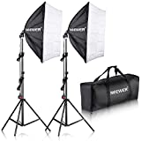 Neewer 700W Professional Photography 24'x24'/60x60cm Softbox with E27 Socket Light Lighting Kit for Photo Studio Portraits, Product Photography and Video Shooting