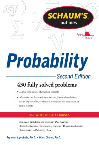 Schaums outline of probability second edition schaums outlines schaums outline of probability second edition schaums outlines by lipschutz seymour fandeluxe Image collections
