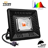 XRZT LED Plant Grow Light, 100W Waterproof Full Spectrum COB LED Grow Light with Natural Heat Dissipation, Ultra Thin and Perfect for Indoor/Outdoor Plants All Growing, Without Noise (Gift Hooks)