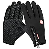 #10: Winter Gloves, TraAcc Touch Screen Gloves Black Gel Men & Women Gloves for Cycling, Running, Climbing and Winter Outdoor Sports- Windproof and Adjustable Size