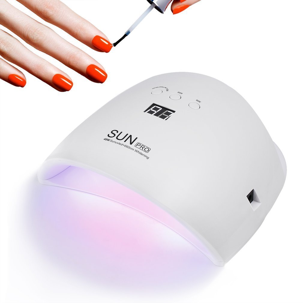 Gustala 48W UV and LED Gel Nail Lamp and Nail Dryer LED Dryer with 4 Timer Setting Curing Lamps Light Fingernail & Toenail Polish Art Professional