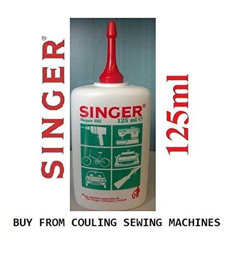 100% Genuine Singer Sewing Machine Oil Super FINE Quality 125ml Bottle + Free Threader COULING