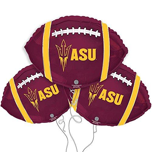Arizona State Sun Devils College Football Mylar Balloon - 3 Pack