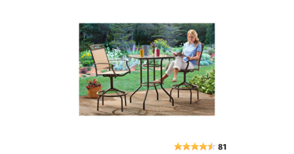 Amazon Com Castlecreek Outdoor Patio Table Chairs Furniture Set 3 Piece Outdoor And Patio Furniture Sets Garden Outdoor