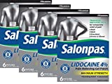 Salonpas LIDOCAINE (4 PACK Special) Pain Relieving Maximum Strength Gel Patch!