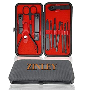 Zinley new Manicure Set, Pedicure Kit, Nail Clippers, Professional Grooming Kit, Nail Tools 12 In 1 with Luxurious…