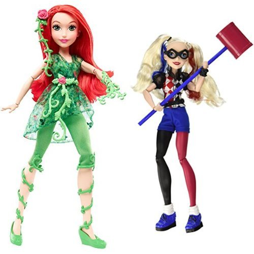 "DC Super Hero Girls Poison Ivy 12"" Action Doll and Harley Quinn 12"" Action Doll Bundle"