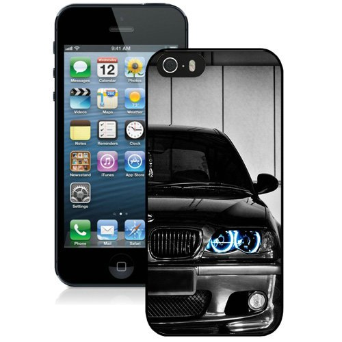 Coque,Fashion Coque iphone 5S Noir Bmw Front Blue Led Noir Screen Cover Case Cover Fashion and Hot Sale Design