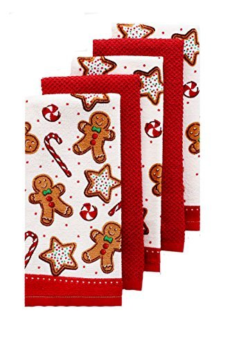 The Big One Christmas Gingerbread Kitchen Towel 5 Pack