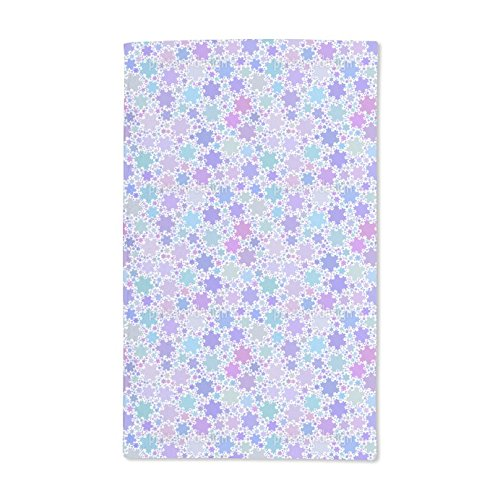 Extra Soft Microfiber Hand Towel - Fractal Snowflakes by Christoph Stichlberger - 15.5