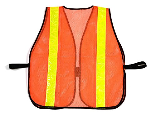 (Box Deal) RK 8011 Safety Vest with Reflective Stripes (50- Pack, Neon Orange) by RK Safety (Image #1)