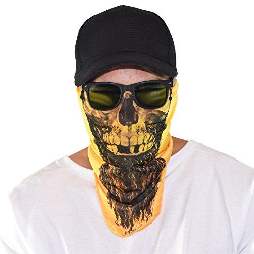 Maskies by Santa Playa, Breathable Face Masks for Biking, Hiking :: Rapp Scullywag (Yellow)
