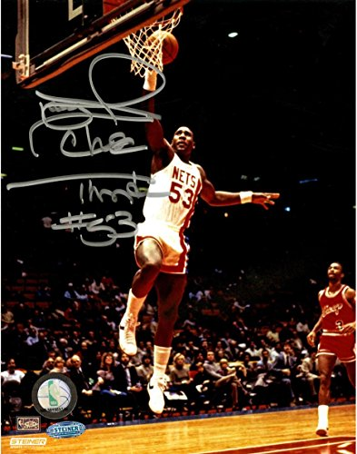 Steiner Sports NBA New Jersey Nets Darryl Dawkins Signed Layup 8x10 Photo