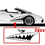 CHAMPLED 130-50 cm'' Full Size Shark Mouth Tooth Flying Tiger Die-Cut Vinyl Decal Sticker Car For BMW M BENZ AUDI VW VOLKSWAGEN VOLVO JAGUAR