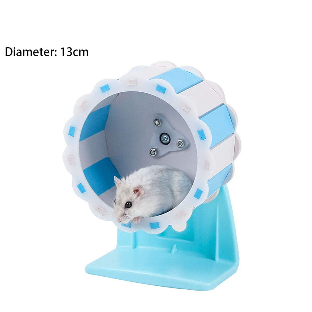 Hedgehog Hamster Silent Rotating Fitness Cylinder Running Animal Wheel Ball Stable,22cm,WithBracket Guinea Pig Small Pet Sports Roller Toy