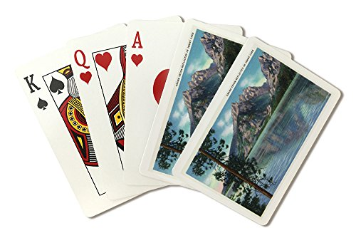 Grand Teton National Park, Wyoming - View of Grand Teton Reflected in Jenny Lake (Playing Card Deck - 52 Card Poker Size with Jokers)