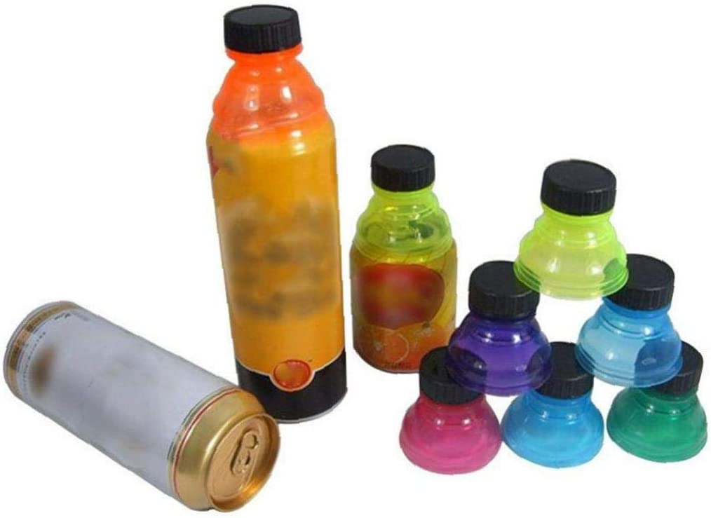 Aisoway 6Pcs Eco-friendly Bottle Tops Cover Soda Saver Pop Beer Beverage Can Cap Flip Lid Protector Snap on Quicksand