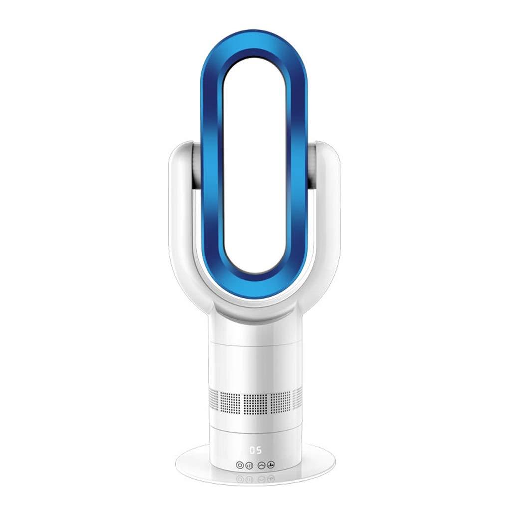涼しく暖かい無風ファンエアコンファンインテリジェント着陸二重使用サイクル冷蔵65W暖房10002000W電気ヒーターMute mobile (色 : 青)  青 B07RKVR3T8