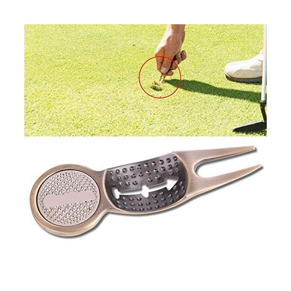Golf-Divot-Tool-Protable-Switchblade-Divot-Tool-Putting-Green-Lawn-Repair-Golf-Gift-Ball-Marker