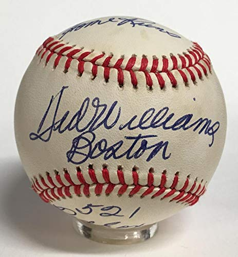 Ted Williams Autographed Ball - Rare Stats Mint 9 - PSA/DNA Certified - Autographed Baseballs