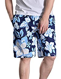Men's Loose Fit Print Boardshort Beach Shorts Swim Trunks Casual Shorts