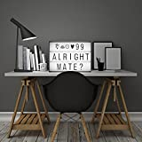 Dreamore Free Combination DIY Cinematic LED Light Box with 170 Letters and Emojis Cards - A4 Size