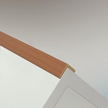 DQ-PP 20x20mm Schwarz Winkelleiste PVC Winkelprofil Kunststoffwinkelprofil Kunststoff-Profil 2m