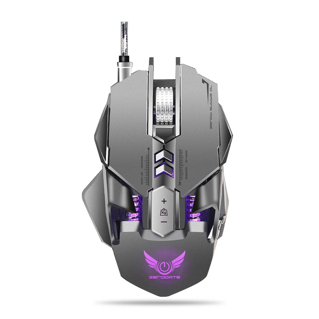 BGXXL Mouse Mechanical Mouse A3050 chip 3200dpi7 Key Macro Definition Backlight Gaming Mouse (Color : A)