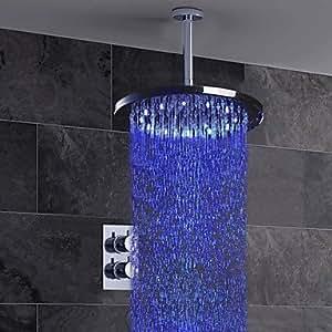 cqq- American Standard - Grifo de ducha/Grifodebañera - Contemporáneo - LED/Cascada/Con Termostato/Ducha lluvia - Latón ( Cromo )
