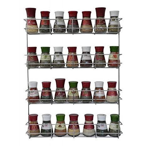 Merveilleux 4 Tier Spice Rack   Cabinet Door And Wall Mountable Spice Rack   Herb Rack  Chrome
