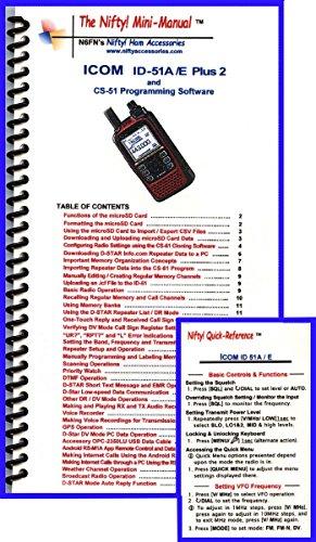 Manual Radio Icom (Icom ID-51A/E Plus2 Mini-Manual & Card Combo)