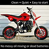 Se7en 40CC 4-Stroke Gas Powered Scooter Mini Dirt Bike,Pit Bike Dirt Off Road Motorcycle (Red)