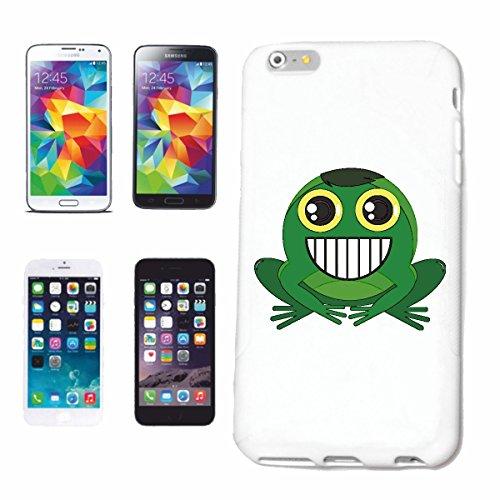 """cas de téléphone iPhone 6+ Plus """"FROG RIRE AVEC LA BOUCHE OUVERTE SMILEY """"SMILEYS SMILIES ANDROID IPHONE EMOTICONS IOS grin VISAGE EMOTICON APP"""" Hard Case Cover Téléphone Covers Smart Cover pour Apple"""