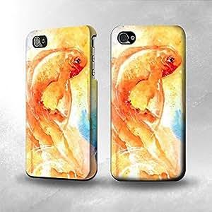 Apple iPhone 4 / 4S Case - The Best 3D Full Wrap iPhone Case - Goldfish Paint