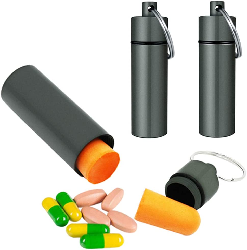 Pill Containers 3 tubes 1.5 oz waterproof Spice Storage Crush Proof water proof