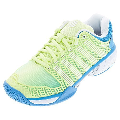 K-Swiss Women`s Hypercourt Express Tennis Shoes Sunny Lime and Vivid Blue-(93377 Review