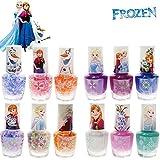 royal nail dryer reviews TownleyGirl Frozen Non-Toxic Peel Off Glitter Nail Polish, 12 CT