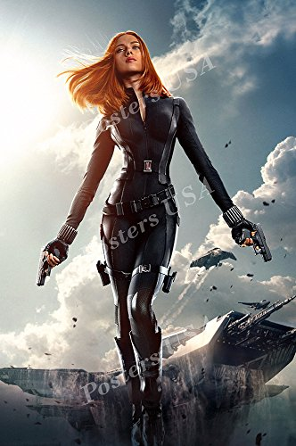 """Posters USA - Marvel Captain America The Winter Soldier Black Widow Textless Movie Poster GLOSSY FINISH - FIL268 (16"""" x 24"""" (41cm x 61cm))"""