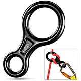 Oumers Rappel Gear Downhill Equipment, Descender Rappel Rock Climbing Descending Belaying Equipment Rappel Device for Outdoor Recreation, Strong Safe Durable