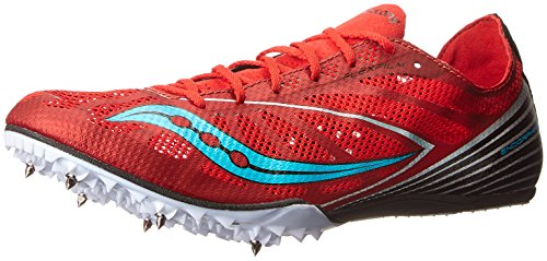756ba68f Saucony Men's Endorphin MD4 Track Spike Racing Shoe, Red/Blue, 9 M ...