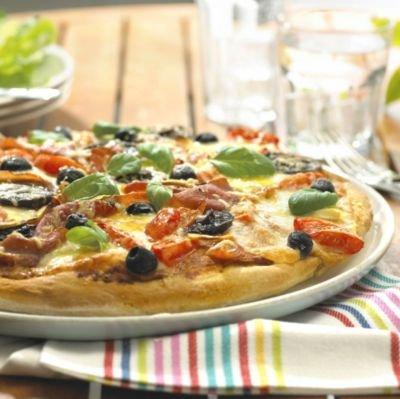 2 X Grande Bandeja de aire de pizza antiadherente Chip Estaño Horno Para Asar Hornear crujientes 9 C